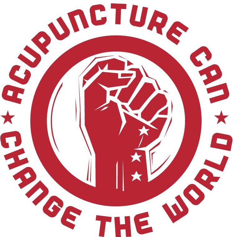 Upraised Fist - Acupuncture can change the world